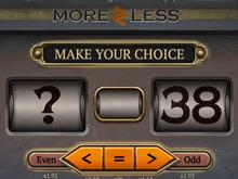 Оригинальный игровой автомат от Вулкан More Or Less